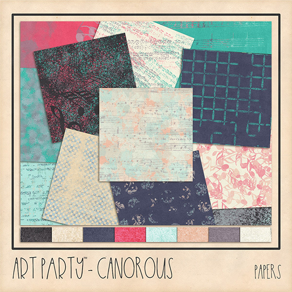 Canorous Papers Digital Art - Digital Scrapbooking Kits