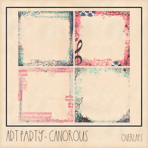Canorous Overlays Digital Art - Digital Scrapbooking Kits