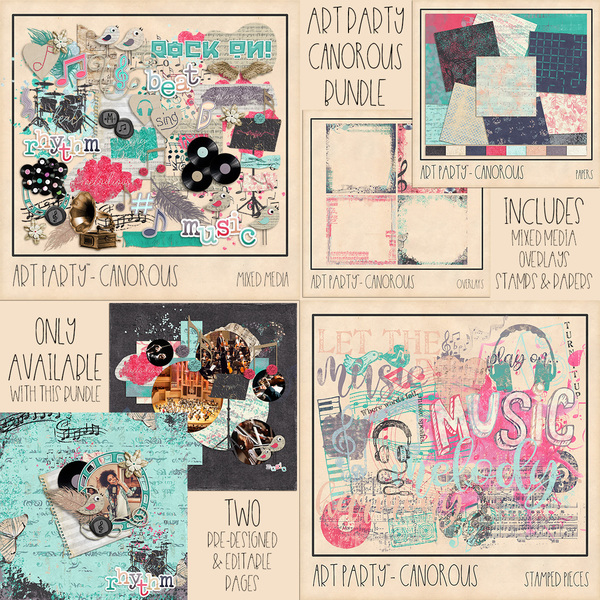 Canorous Complete Collection Digital Art - Digital Scrapbooking Kits