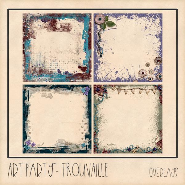 Trouvaille Overlays Digital Art - Digital Scrapbooking Kits