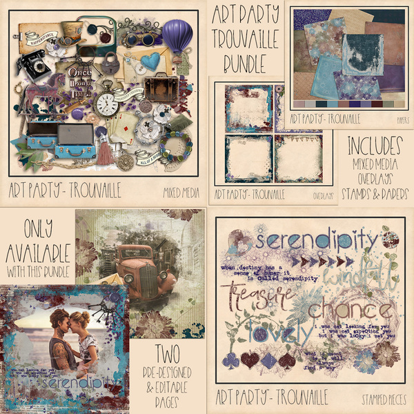Trouvaille Complete Collection Digital Art - Digital Scrapbooking Kits