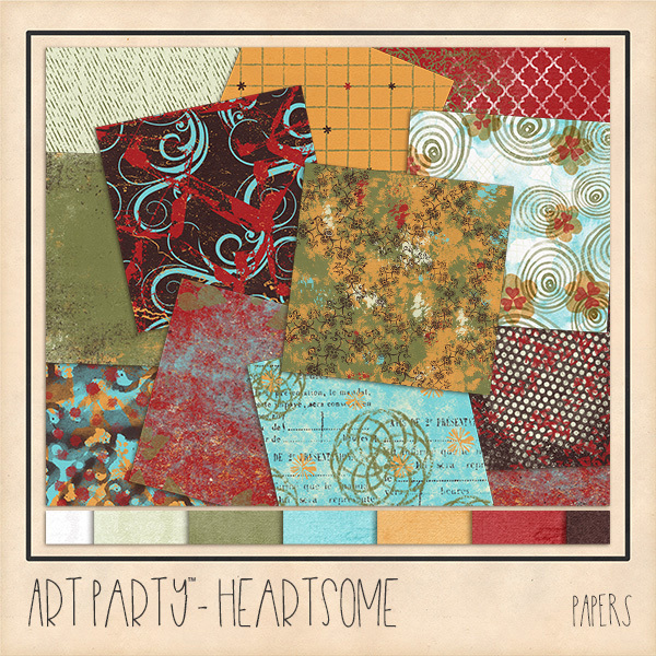 Heartsome Papers Digital Art - Digital Scrapbooking Kits