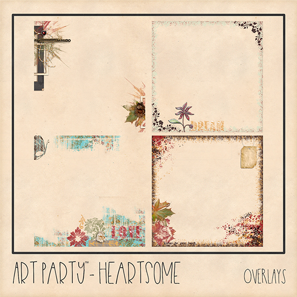 Heartsome Overlays Digital Art - Digital Scrapbooking Kits