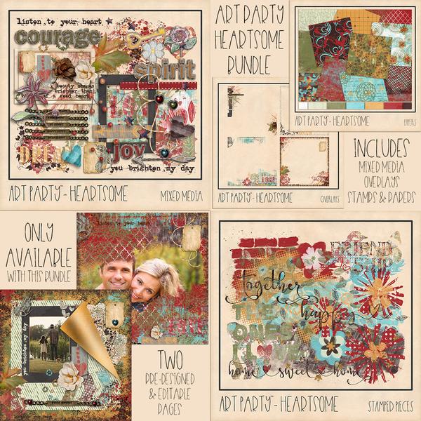 Heartsome Complete Collection Digital Art - Digital Scrapbooking Kits