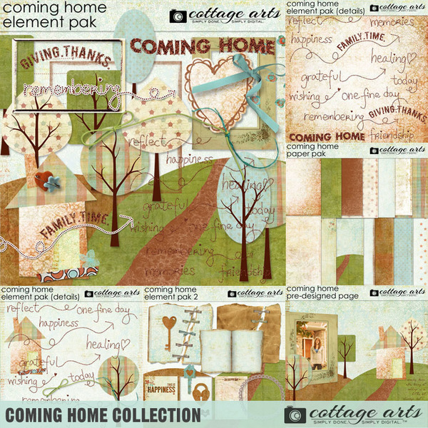 Coming Home Collection Digital Art - Digital Scrapbooking Kits