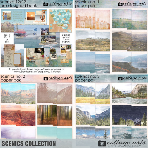Scenics Collection Digital Art - Digital Scrapbooking Kits
