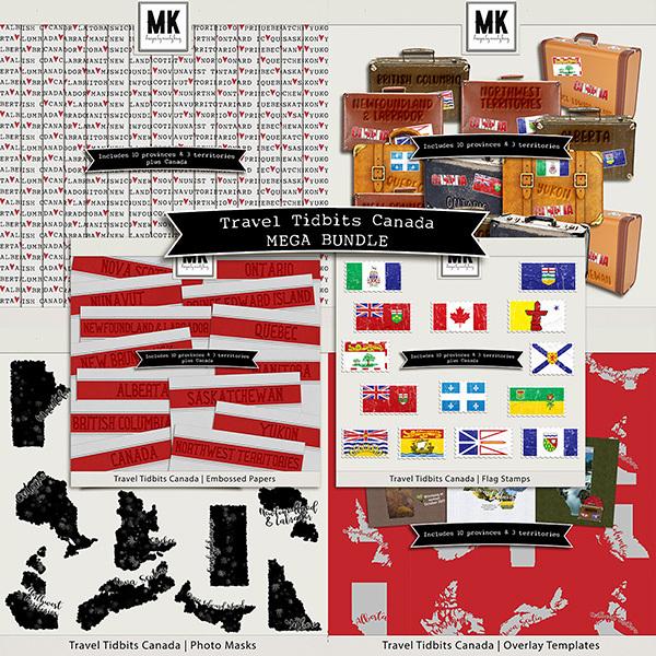Travel Tidbits Canada Mega Bundle Digital Art - Digital Scrapbooking Kits