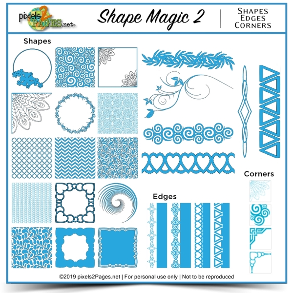 Shape Magic 2 Digital Art - Digital Scrapbooking Kits