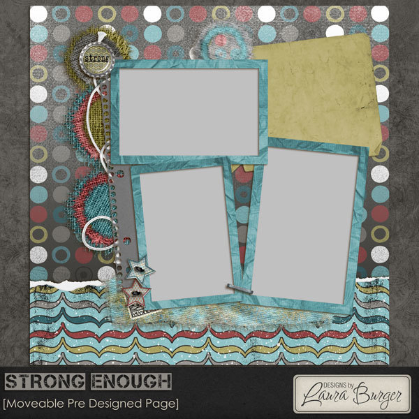 Strong Enough PreMade Page Digital Art - Digital Scrapbooking Kits