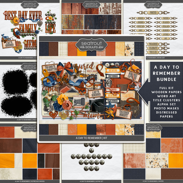 A Day to Remember Bundle Digital Art - Digital Scrapbooking Kits