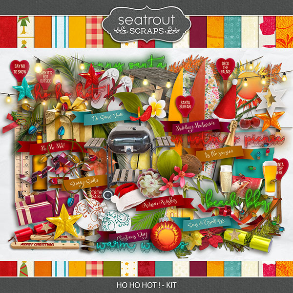 Ho Ho Hot! Kit Digital Art - Digital Scrapbooking Kits