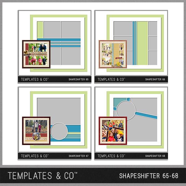 Shapeshifter 65 - 68 Digital Art - Digital Scrapbooking Kits