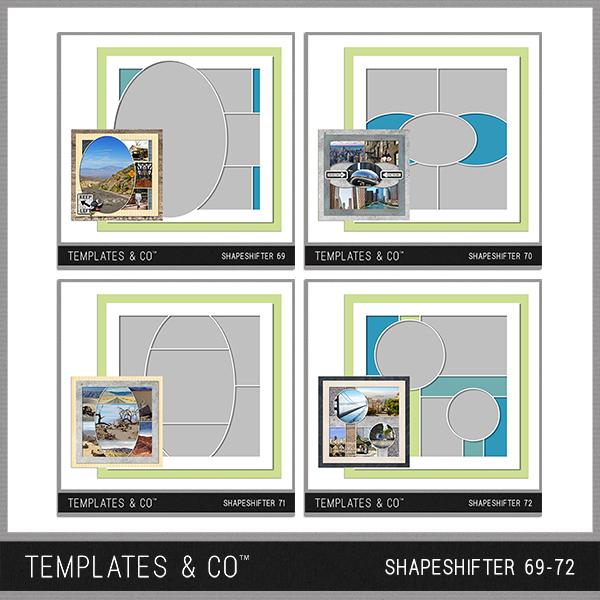 Shapeshifter 69-72 Digital Art - Digital Scrapbooking Kits