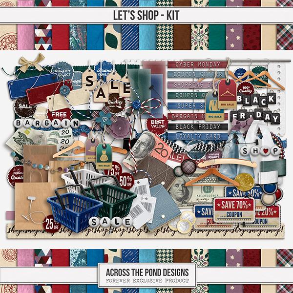 Let's Shop Kit Digital Art - Digital Scrapbooking Kits