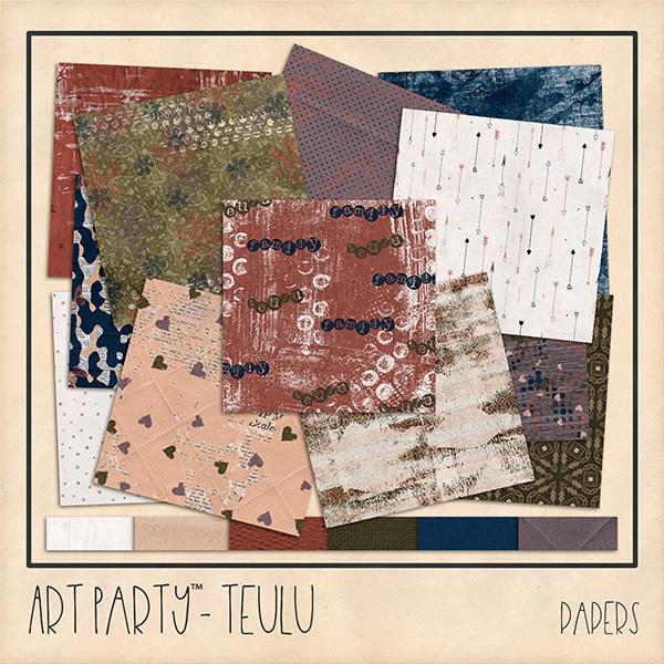 Teulu Papers Digital Art - Digital Scrapbooking Kits