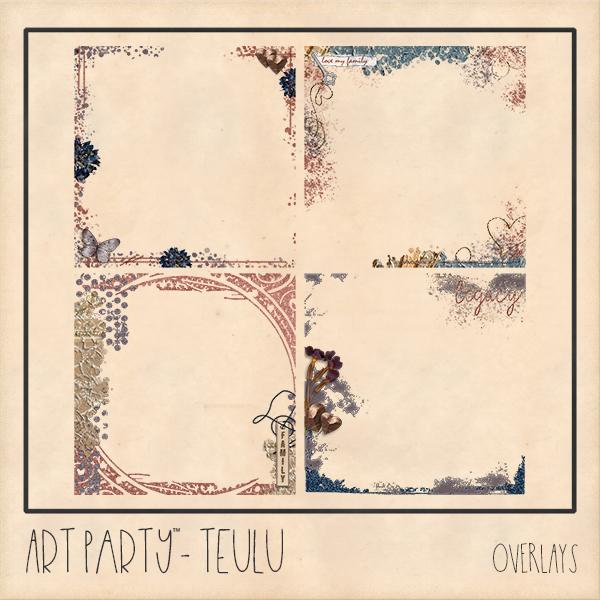 Teulu Overlays Digital Art - Digital Scrapbooking Kits