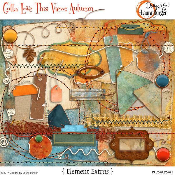 Gotta Love The View- Autumn Elements Extras Digital Art - Digital Scrapbooking Kits
