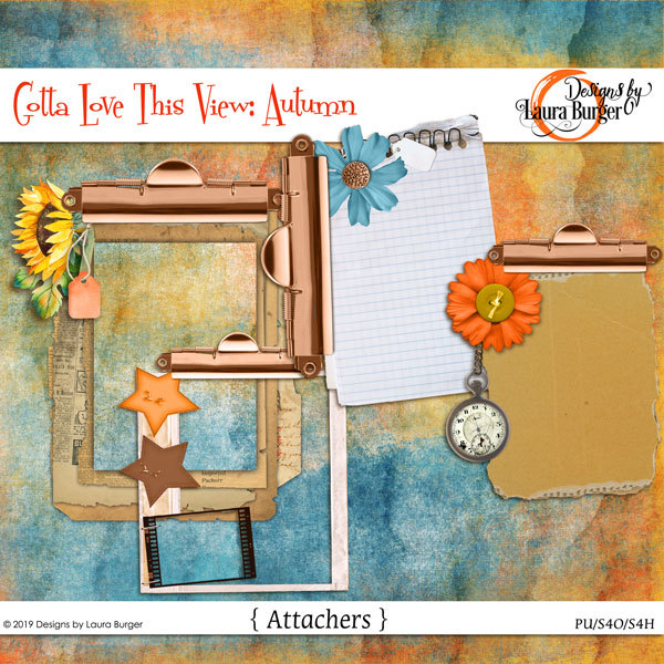 Gotta Love The View- Attachers Digital Art - Digital Scrapbooking Kits