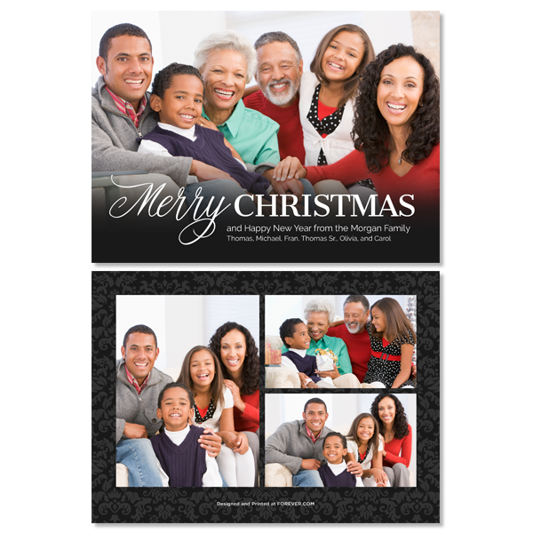 Christmas Family Black Card