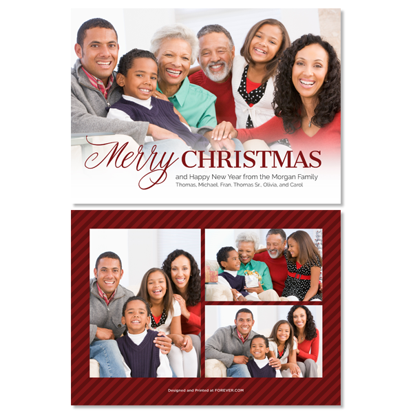 Christmas Family White Card