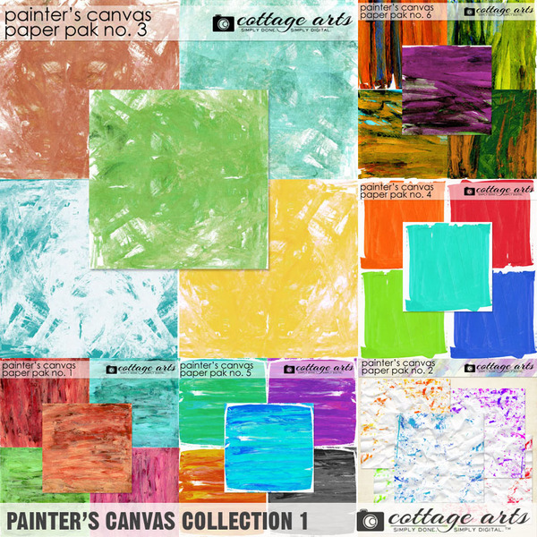 Painter's Canvas Collection 1 Digital Art - Digital Scrapbooking Kits