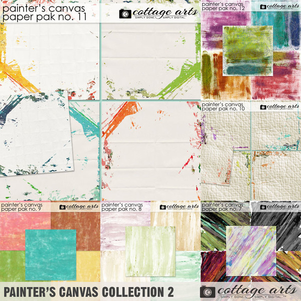 Painter's Canvas Collection 2 Digital Art - Digital Scrapbooking Kits