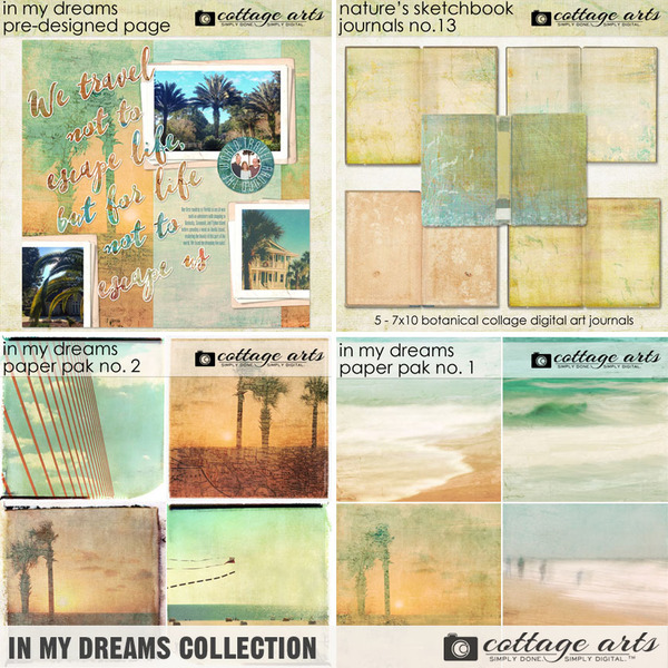 In My Dreams Collection Digital Art - Digital Scrapbooking Kits