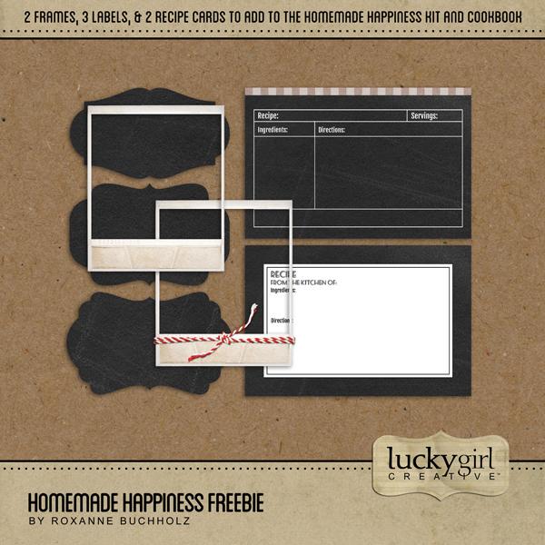 Homemade Happiness Freebie Digital Art - Digital Scrapbooking Kits
