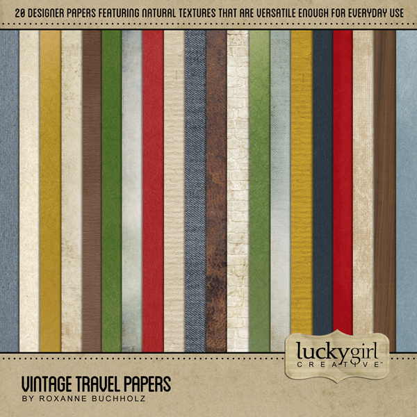 Vintage Travel Papers Digital Art - Digital Scrapbooking Kits