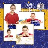 Happy Hanukkah 12x12 Page Print Templates