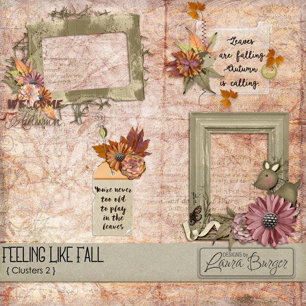 Feeling Like Clusters Set 2 Digital Art - Digital Scrapbooking Kits