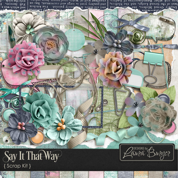 Say It That Way Scrap Kit Digital Art - Digital Scrapbooking Kits
