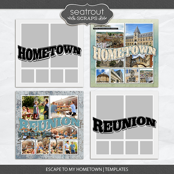 Escape to My Hometown Templates Digital Art - Digital Scrapbooking Kits