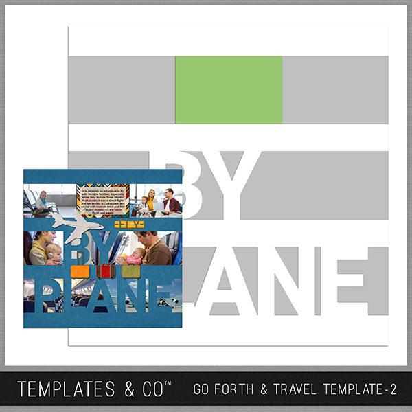 Go Forth & Travel Template 2 Digital Art - Digital Scrapbooking Kits
