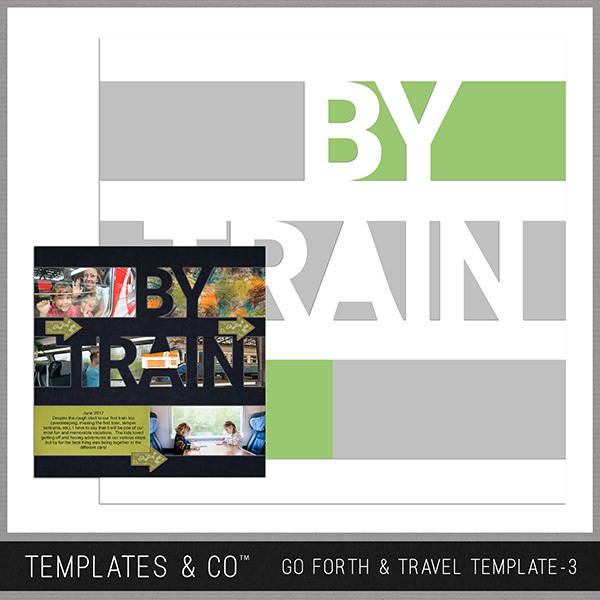 Go Forth & Travel Template 3 Digital Art - Digital Scrapbooking Kits