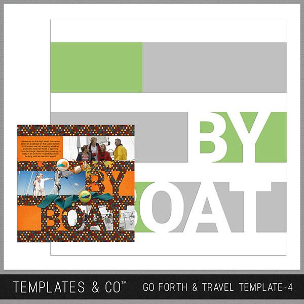 Go Forth & Travel Template 4 Digital Art - Digital Scrapbooking Kits