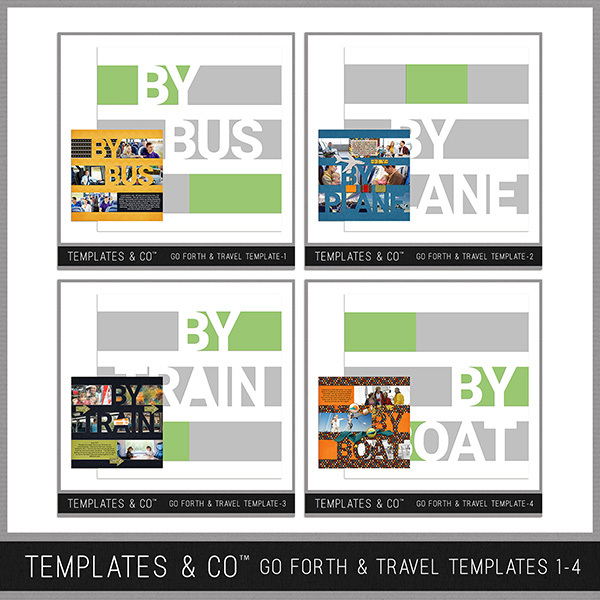 Go Forth & Travel Templates 1-4