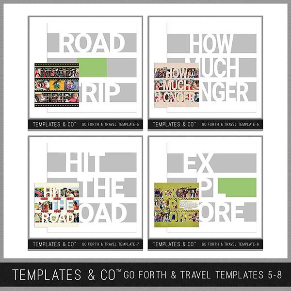 Go Forth & Travel Templates 5-8 Digital Art - Digital Scrapbooking Kits