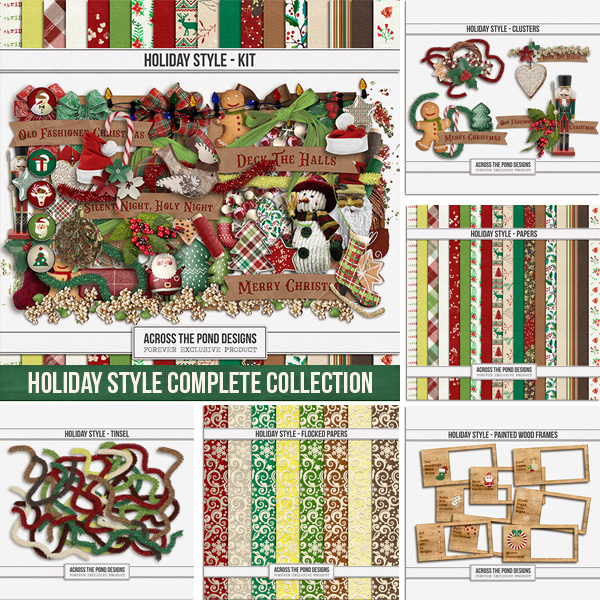 Holiday Style Complete Collection Digital Art - Digital Scrapbooking Kits