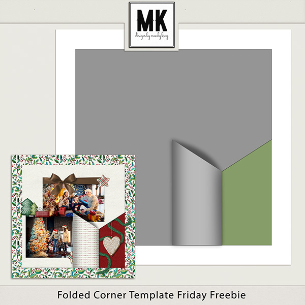 Folded Corner Templates Friday Freebie Digital Art - Digital Scrapbooking Kits