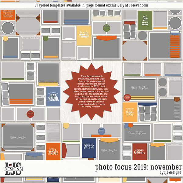 Photo Focus 2019 - November Digital Art - Digital Scrapbooking Kits
