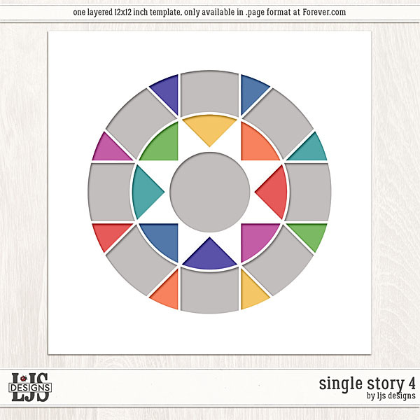 Single Story 4 Digital Art - Digital Scrapbooking Kits
