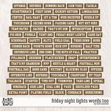 Friday Night Lights Words Too