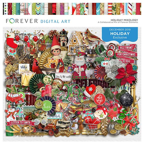 Holiday Mixology Digital Art - Digital Scrapbooking Kits