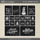 My Year - December Card Kit 3