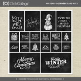 My Year - December Card Kit Bundle