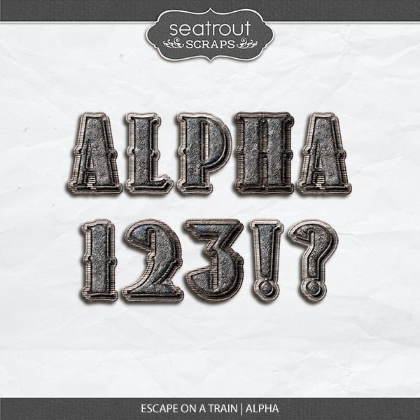 Escape on a Train Alpha Digital Art - Digital Scrapbooking Kits