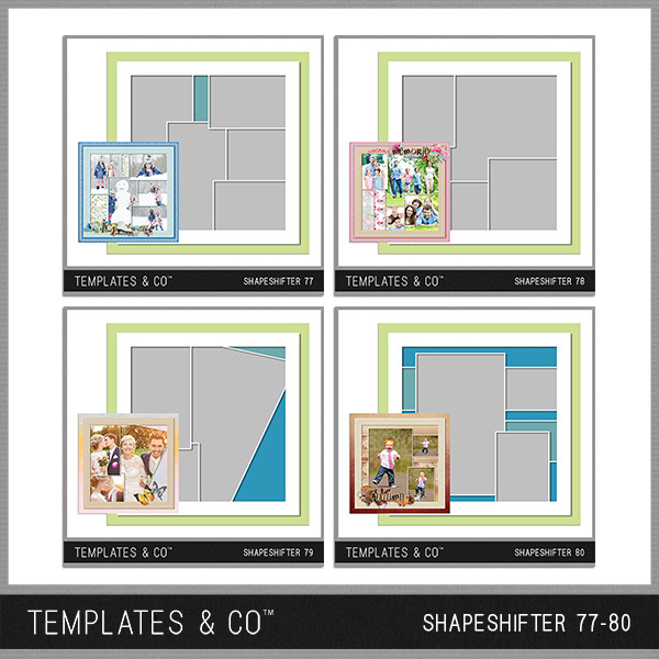 Shapeshifter 77-80 Digital Art - Digital Scrapbooking Kits