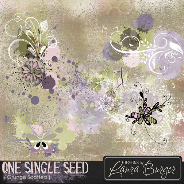 One Single Seed Scatters Digital Art - Digital Scrapbooking Kits