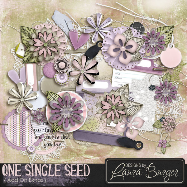 One Single Seed Extras Digital Art - Digital Scrapbooking Kits